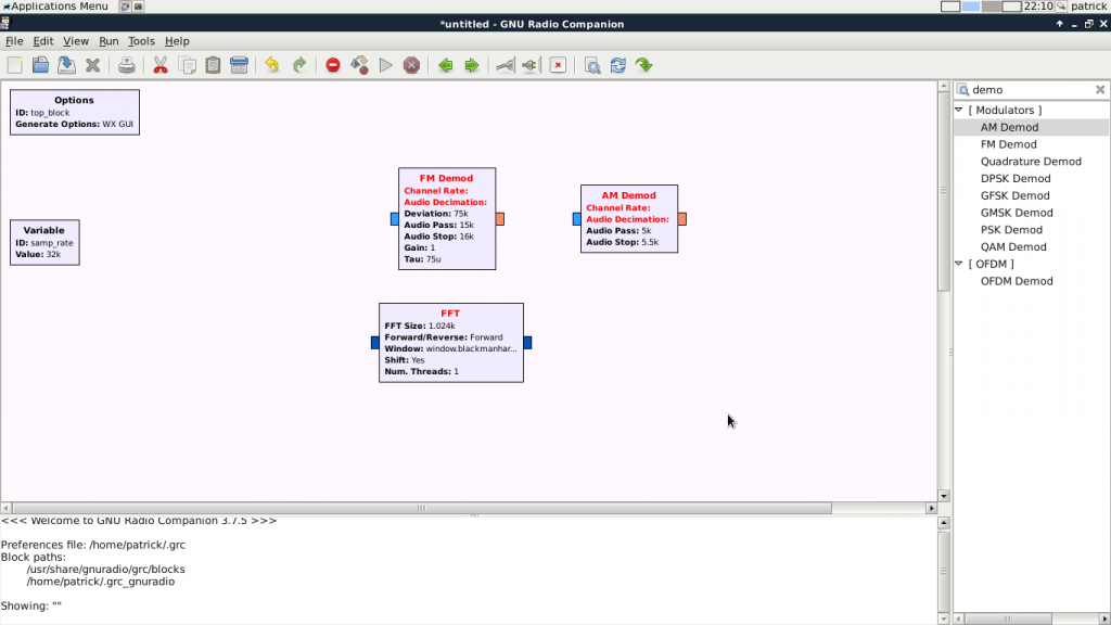 gnuradio interface. (like simulink but isn't java)